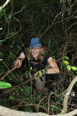 Jenny in greenbrier thicket