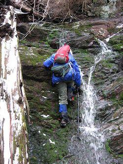 Jenny on cascade